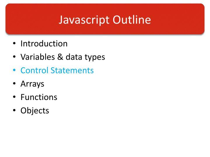 Javascript Outline