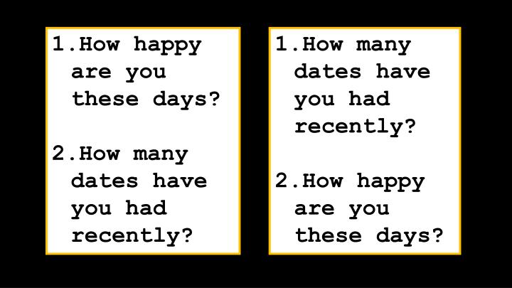 How many dates have you had recently?