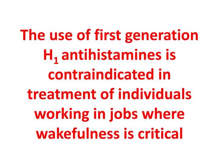 The use of first generation H