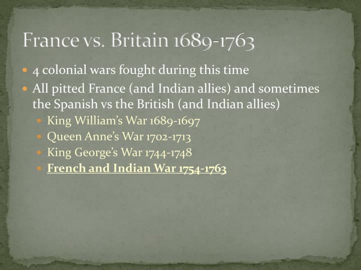 France vs. Britain 1689-1763