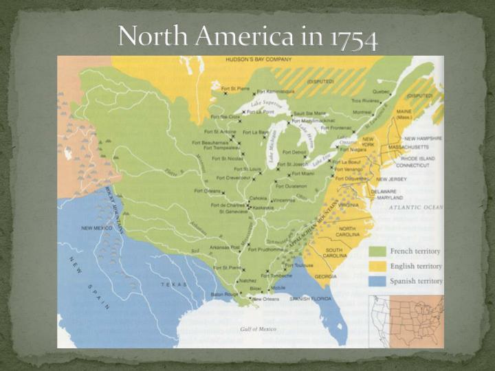 North America in 1754
