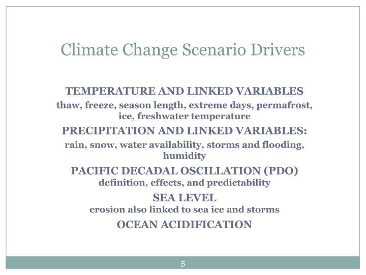 Climate Change Scenario Drivers