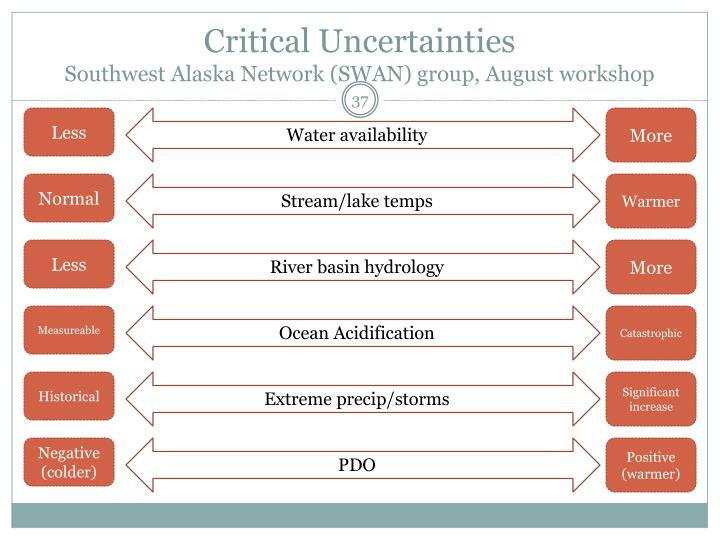 Critical Uncertainties