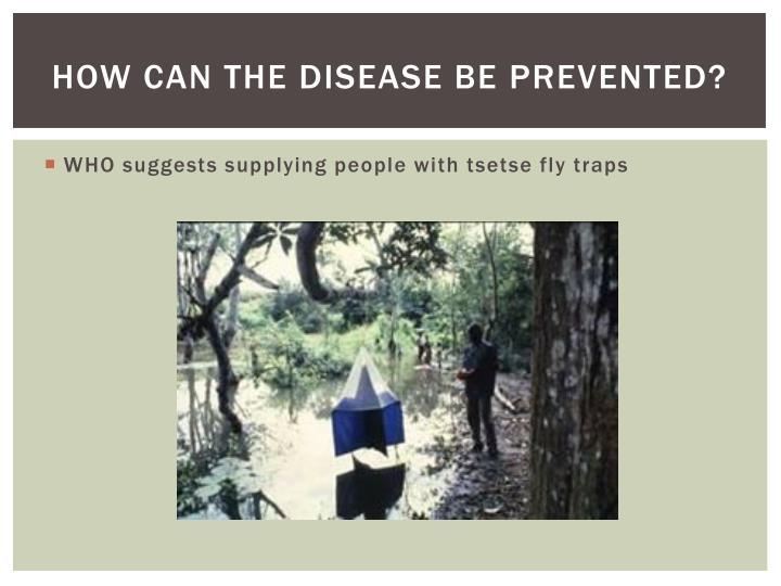 How can the disease be prevented?