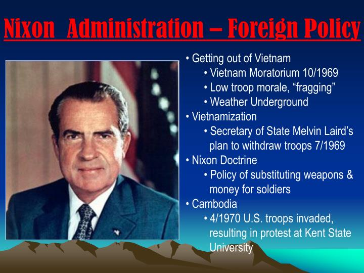 president nixons international and domestic challenges President nixons international and domestic challenges essay 1584 words | 7 pages name teacher ap us history september 20, 2012 president richard m nixon's administration had to face many international and domestic challenges in the united states between 1968 and 1974, some positive and some negative.