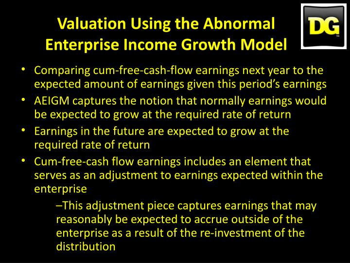 Valuation Using the Abnormal