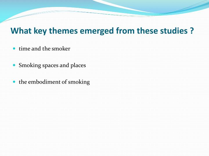 What key themes emerged from these studies ?