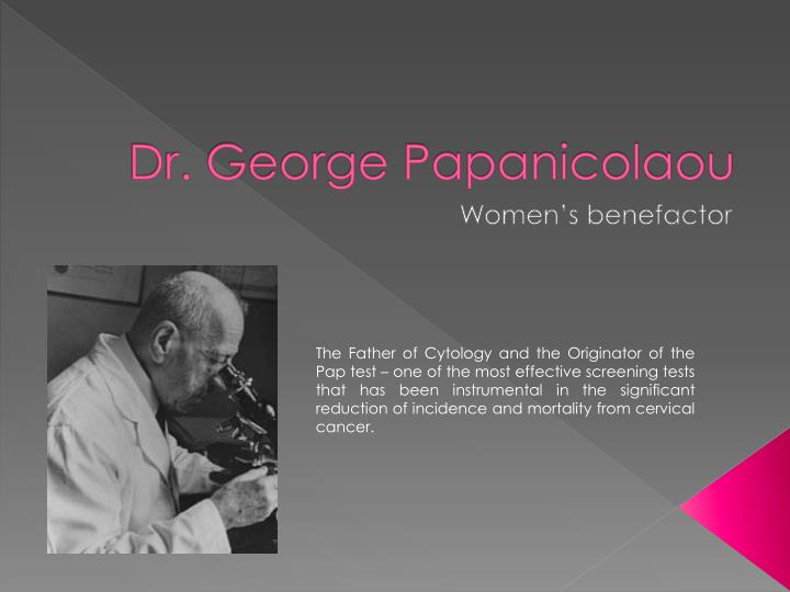 Dr george papanicolaou