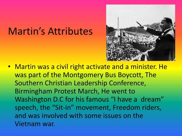 Martin's Attributes