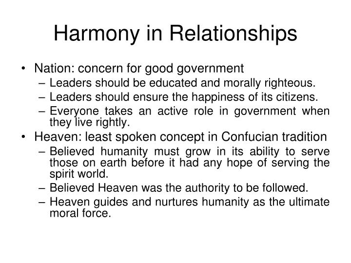 Harmony in Relationships