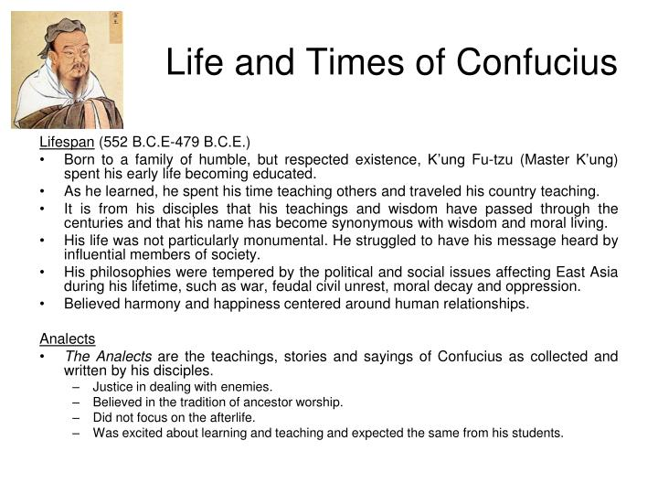 Life and times of confucius