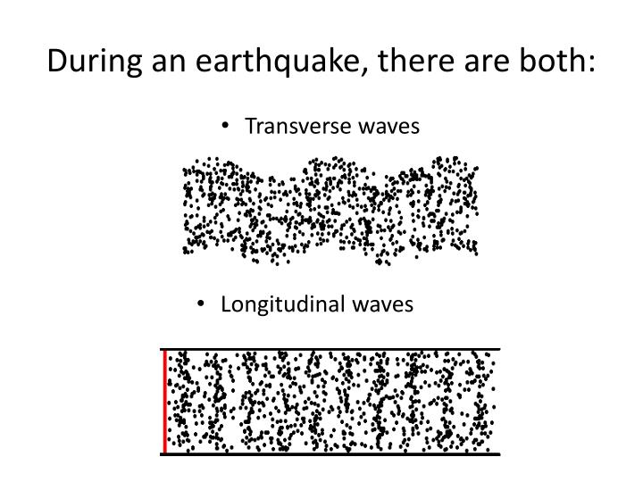 During an earthquake, there are both: