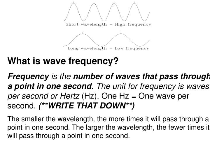What is wave frequency?