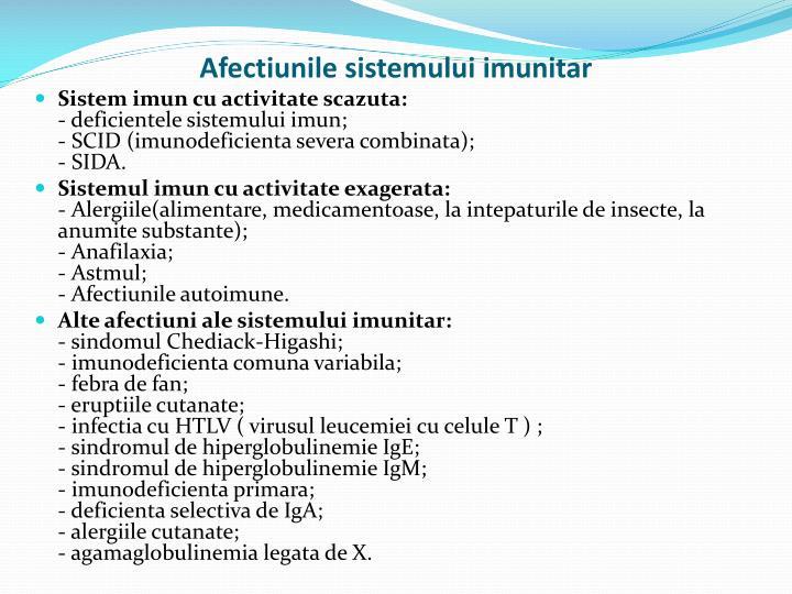 Afectiunile sistemului imunitar