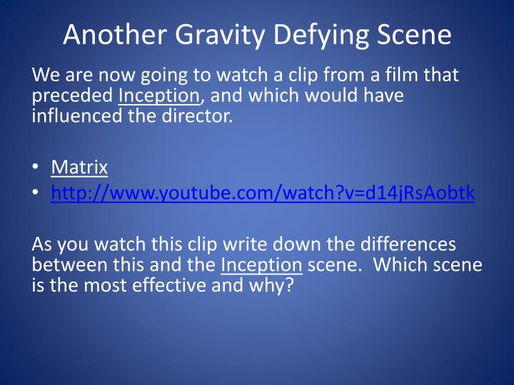 Another Gravity Defying Scene