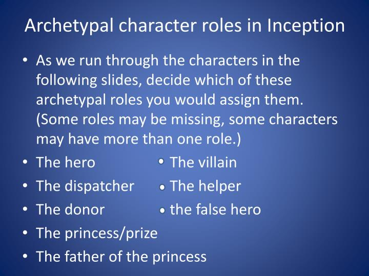 Archetypal character roles