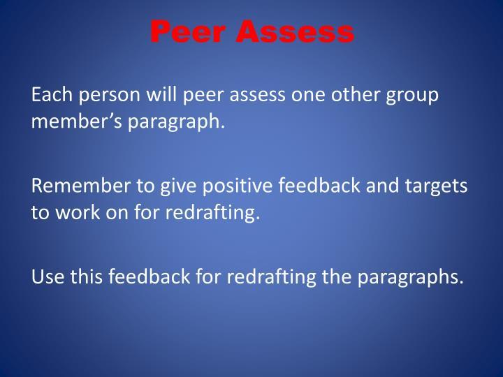 Peer Assess