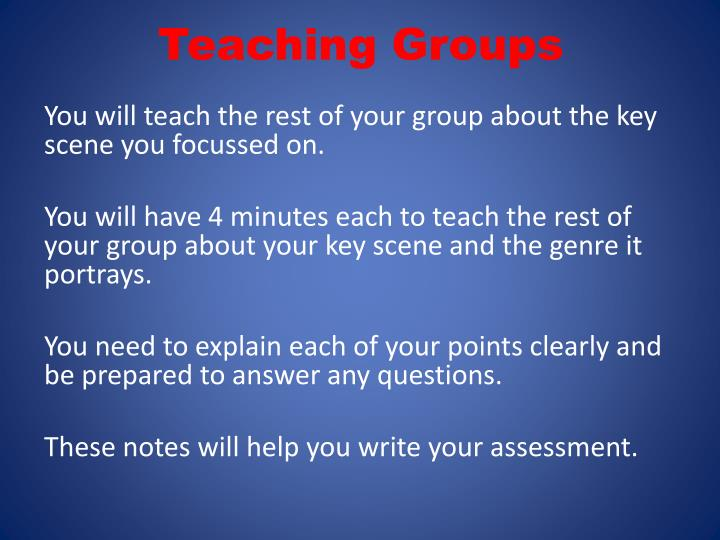 Teaching Groups