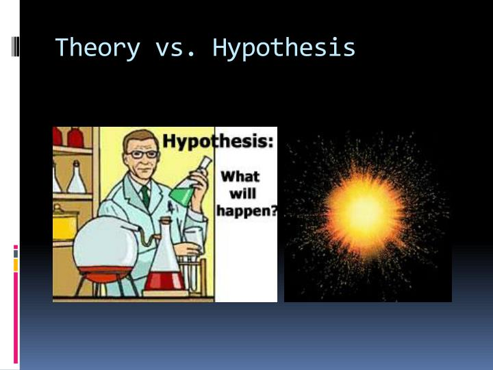 Theory vs hypothesis