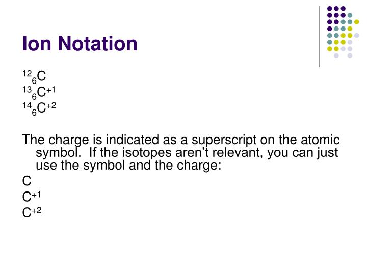 Ion Notation