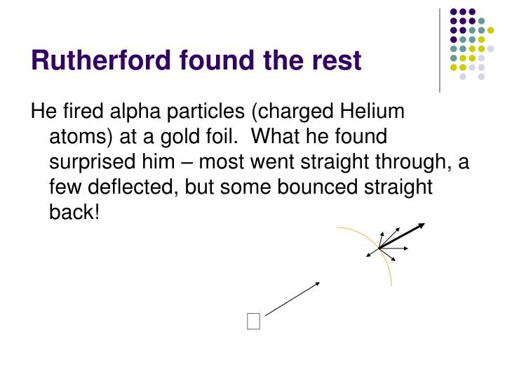 Rutherford found the rest