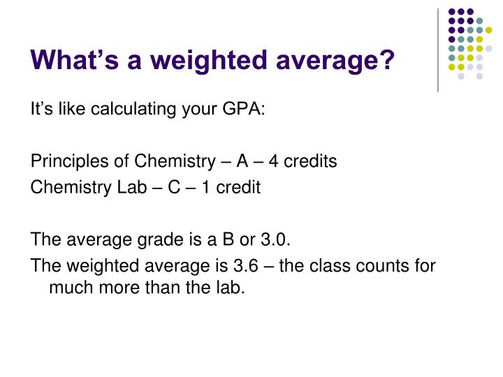 What's a weighted average?