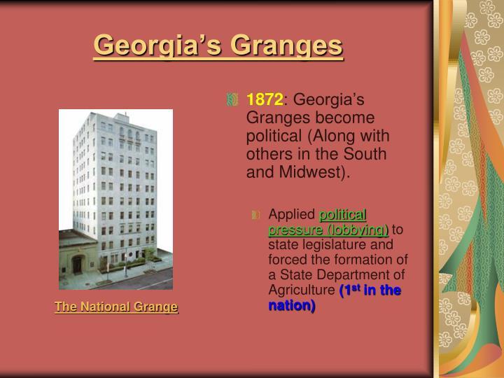 Georgia's Granges