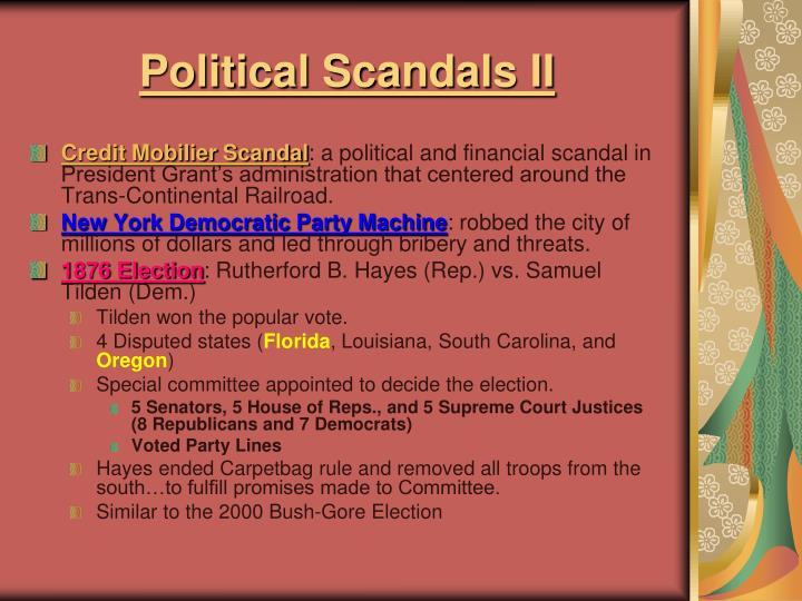 Political Scandals II