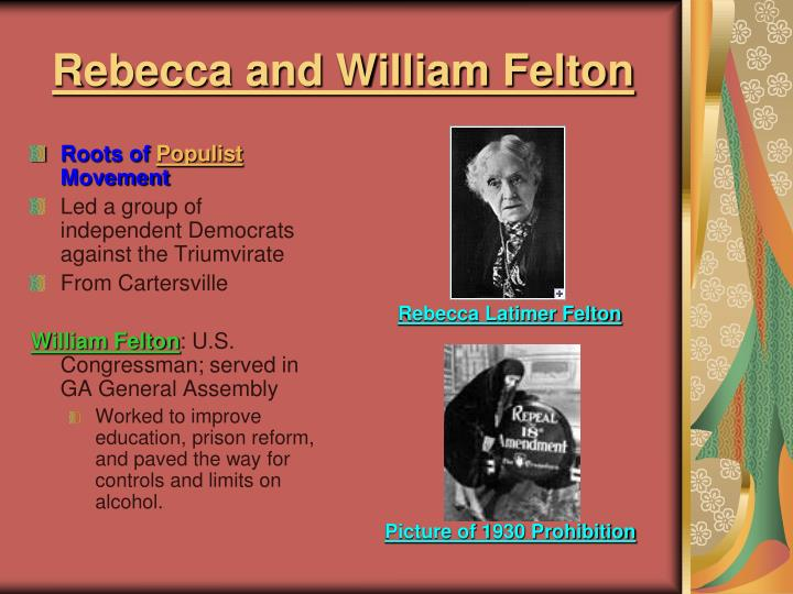 Rebecca and William Felton