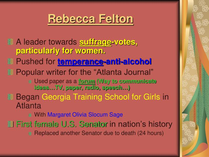 Rebecca Felton