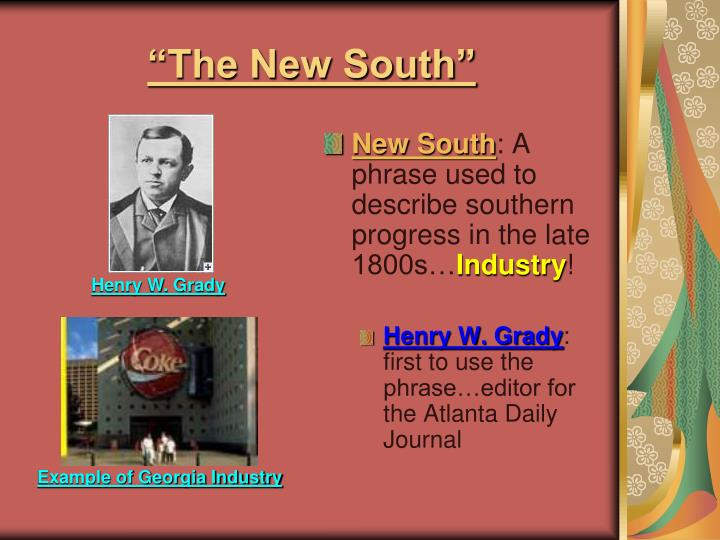 """The New South"""
