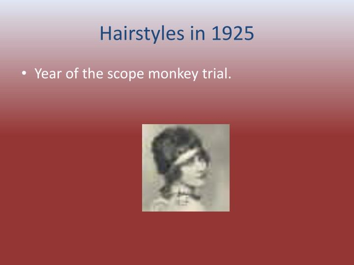 Hairstyles in 1925
