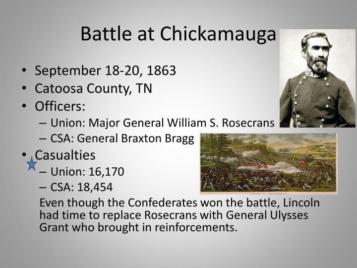 Battle at Chickamauga