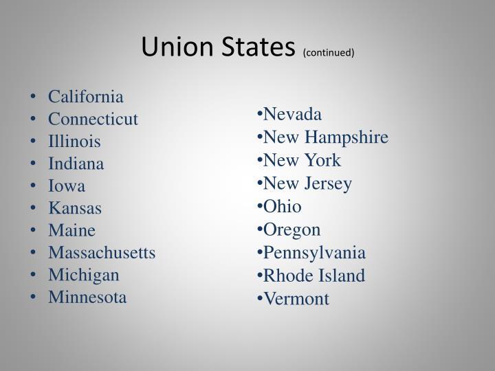 Union States