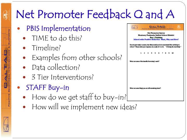 Net Promoter Feedback Q and A