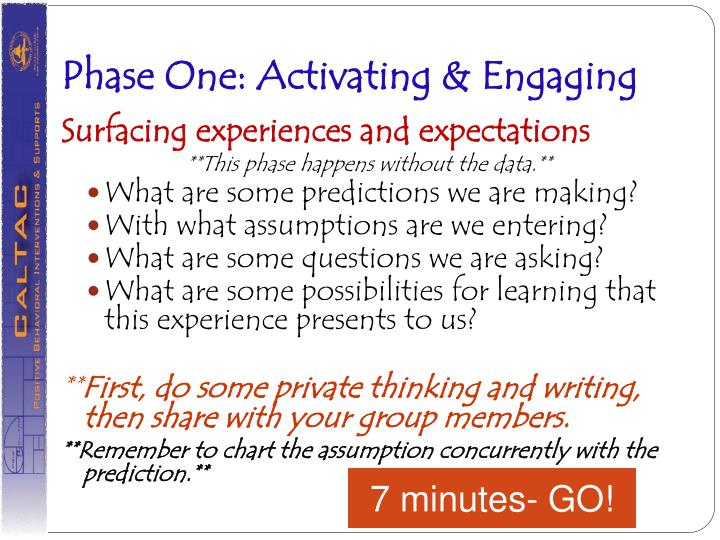 Phase One: Activating & Engaging