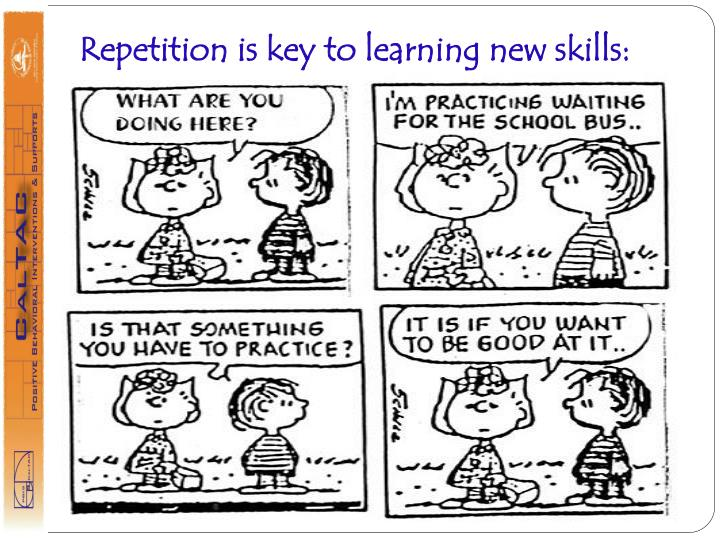 Repetition is key to learning new skills: