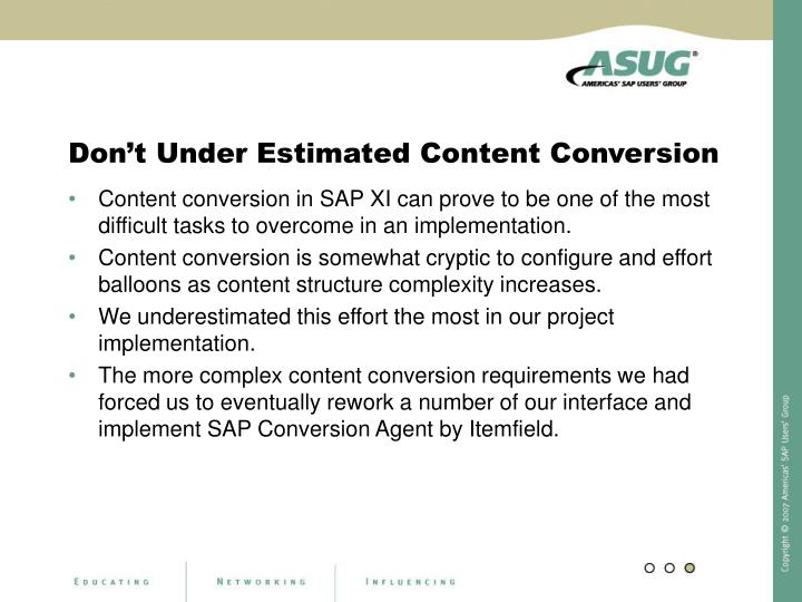 Don't Under Estimated Content Conversion