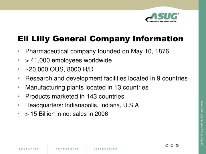 Eli Lilly General Company Information