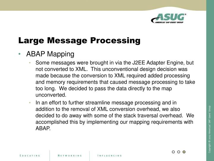 Large Message Processing