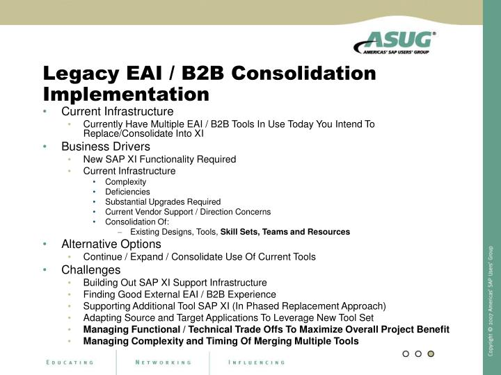 Legacy EAI / B2B Consolidation Implementation