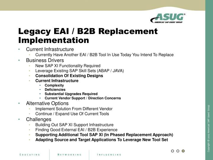 Legacy EAI / B2B Replacement Implementation