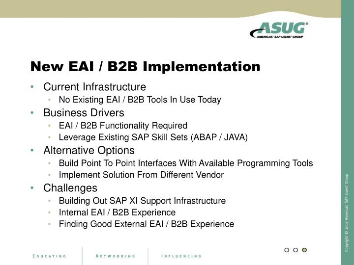New EAI / B2B Implementation