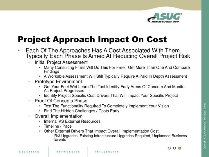Project Approach Impact On Cost
