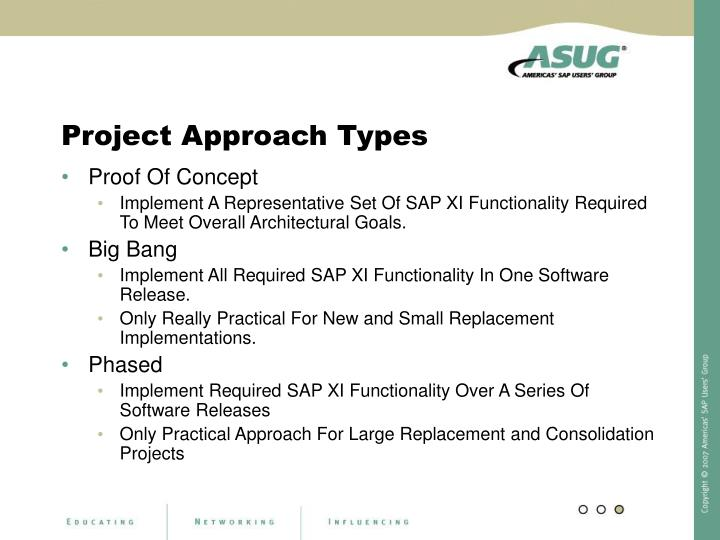 Project Approach Types