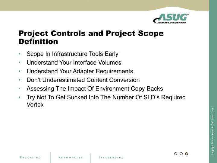 Project Controls and Project Scope Definition