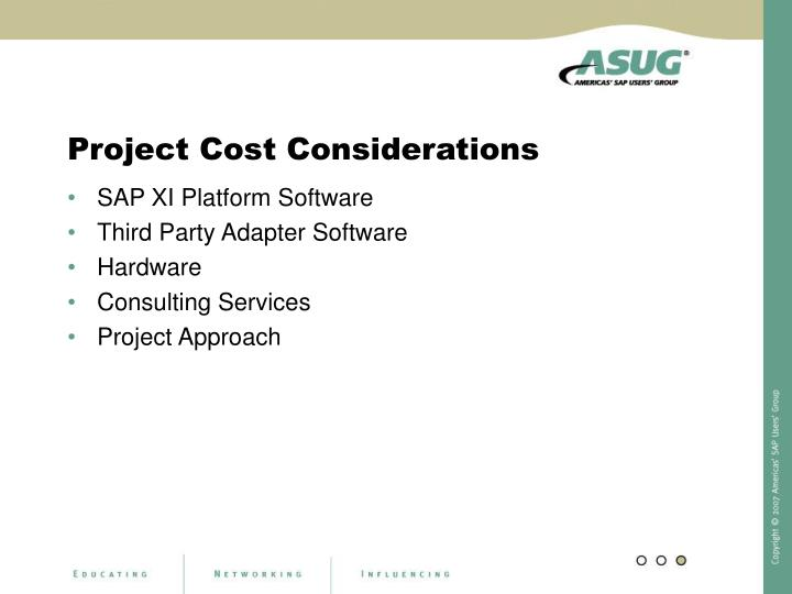 Project Cost Considerations