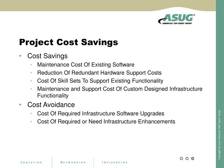 Project Cost Savings