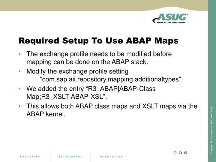 Required Setup To Use ABAP Maps