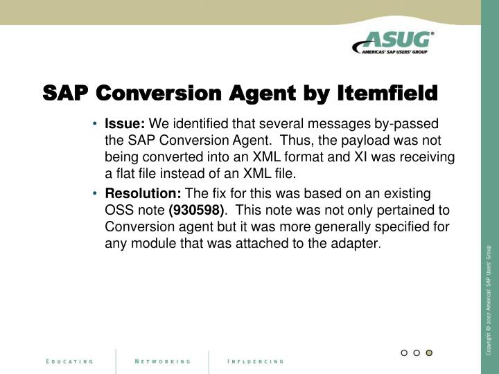 SAP Conversion Agent by Itemfield